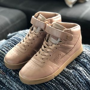 Fila Rose Gold Metallic High Tops